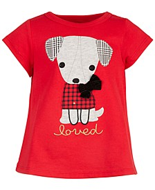 Baby Girls Holiday Dog T-Shirt, Created for Macy's