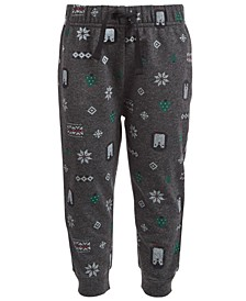 Baby Boys Winter-Print Jogger Pants, Created for Macy's