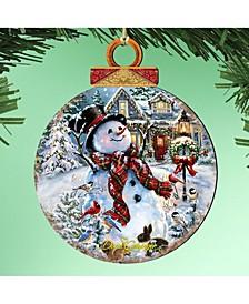 by Dona Gelsinger Prosperity Snowman Ornament, Set of 2