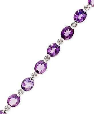 Victoria Townsend Sterling Silver Bracelet, Amethyst and Diamond Accent Bracelet (28-3/4 ct. t.w.)