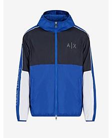 Colorblock Lightweight Hooded Zip-up