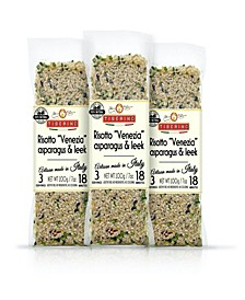 One Pot Dish - Risotto Carnaroli with Green Asparagus and Leeks - 7oz 200 Grams, Pack of 3