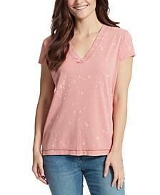 Splatter Cotton T-Shirt