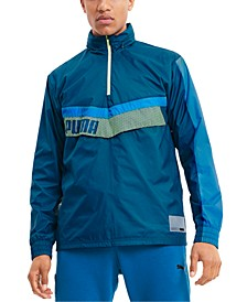 Men's Train Woven Colorblocked Half-Zip Jacket