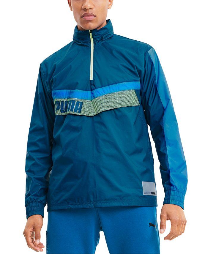 Puma - Men's Train Woven Colorblocked Half-Zip Jacket