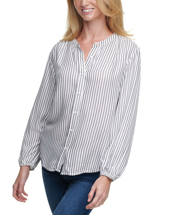 Tommy Hilfiger Striped Button-Front Top