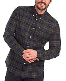 Men's Tartan Plaid Oxford Shirt