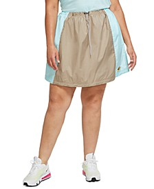 Plus Size Icon Clash Drawstring Skirt
