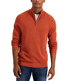 Men's Quarter-Zip Cotton Sweater, Created for Macy's
