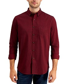 Men's Brushed Cotton Flannel Shirt, Created for Macy's