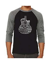 Languages Guitar Men's Raglan Word Art T-shirt