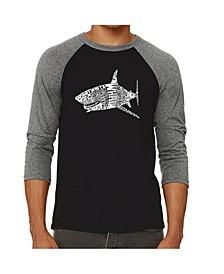 Species of Shark Men's Raglan Word Art T-shirt