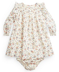 Baby Girls Floral Smocked Dress and Bloomer