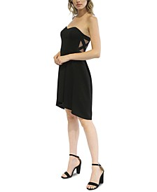Juniors' Strapless High-Low Fit & Flare Dress