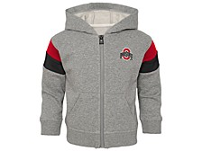 Ohio State Buckeyes Toddler Boys Ready Full-Zip Sweatshirt