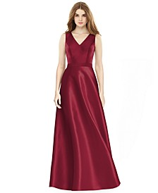 Satin A-Line Gown
