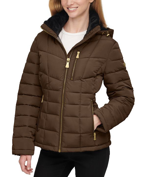 Calvin Klein Hooded Puffer Coat, Created for Macy's