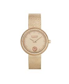 Women's Lea Rose Gold Tone Stainless Steel Bracelet Watch 35mm