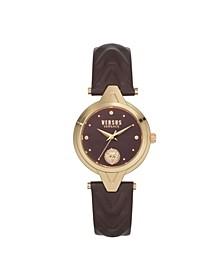 Women's Forlanni Burgundy Leather Strap Watch 30mm