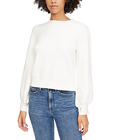 Lucy Paris Julie Blouson-Sleeve Sweater