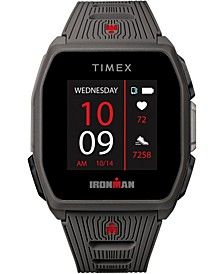 Men's Ironman R300 Dark Gray Silicone Strap GPS Smart Watch with Heart Rate 41mm