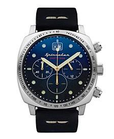 Men's Hull Chrono Navy Blue Genuine Leather Strap Watch 42mm