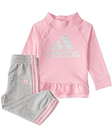Baby Girls Long Sleeve French Terry Pullover & Jogger Set