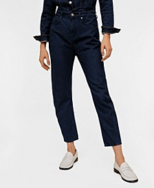 Waist Straight Slouchy Jeans