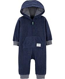 Baby Boy  Dinosaur Hooded Fleece Jumpsuit