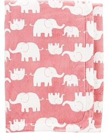 Big Boy Elephant Fuzzy Plush Blanket