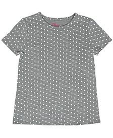 Big Girls All Over Polka Dot Print Knit Tee