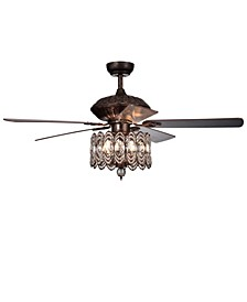 "Copper 52"" 3-Light Indoor Remote Controlled Ceiling Fan with Light Kit"