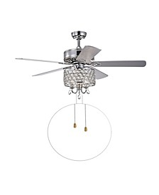 "Fengren 52"" 3-Light Indoor Hand Pull Chain Ceiling Fan with Light Kit"