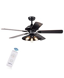 "Upille 52"" 3-Light Indoor Remote Controlled Ceiling Fan with Light Kit"