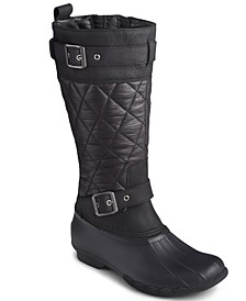 Women's Saltwater Buckled Quilted Boots
