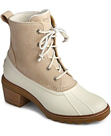 Women's Saltwater Block-Heel Duck Boots
