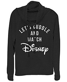 Women's Disney Logo Disney Cuddles Fleece Cowl Neck Sweatshirt