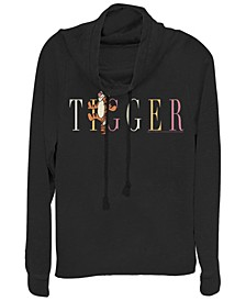 Women's Winnie the Pooh Tigger Fashion Fleece Cowl Neck Sweatshirt