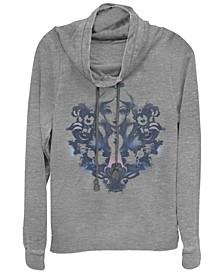 Women's Alice in Wonderland Alice Rorschach Fleece Cowl Neck Sweatshirt