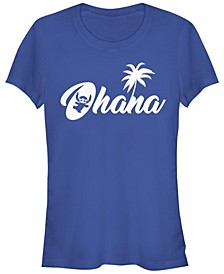 Women's Disney Stitch Silhouette Ohana Short Sleeve T-shirt