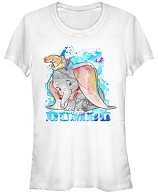 Women's Watercolor Dumbo Short Sleeve T-shirt