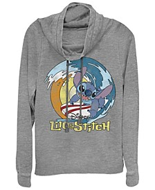 Women's Disney Stitch Surf Fleece Cowl Neck Sweatshirt