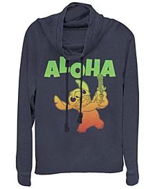 Women's Disney Lilo Stitch Aloha Stitch Fleece Cowl Neck Sweatshirt