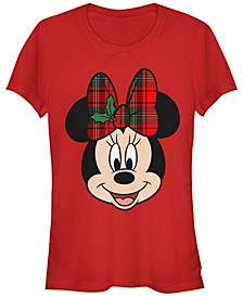 Women's Disney Mickey Classic Big Minnie Holiday Short Sleeve T-shirt