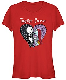Women's Nightmare Before Christmas Together Forever Short Sleeve T-shirt