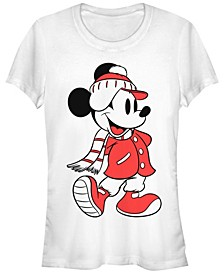 Women's Disney Mickey Classic Mickey Winter Fill Short Sleeve T-shirt