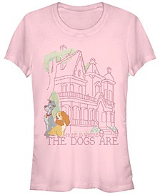 Women's Lady and the Tramp Cross Stitch Home Short Sleeve T-shirt