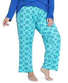 Plus Size Cool Girl Printed Pajama Pants