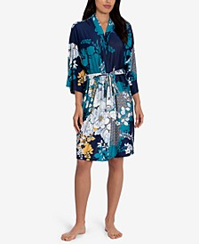 Niya Printed Wrap Robe