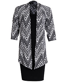 Connected Plus Size Printed Jacket & Dress